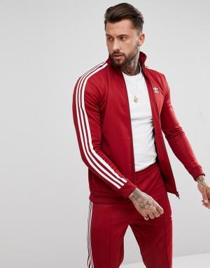 Adidas Originals Бордовая спортивная куртка adicolor CW1251. Цвет: красный