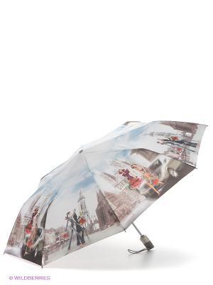 Зонт Zest. Цвет: лазурный, светло-серый