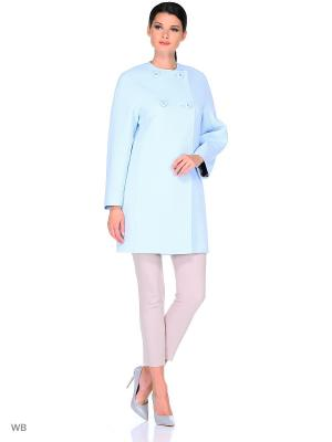 Пальто FORTUNE. Цвет: голубой