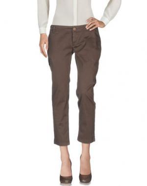 Повседневные брюки ATELIER FIXDESIGN. Цвет: темно-коричневый