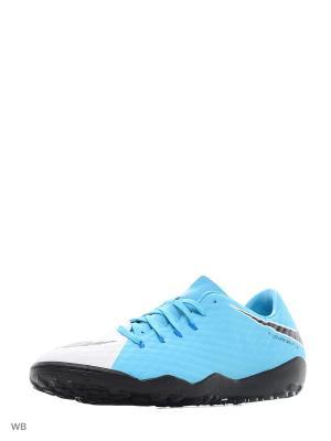Бутсы Nike Hypervenom Phelon III (TF). Цвет: белый