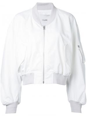 Классическая куртка бомбер Clane. Цвет: белый