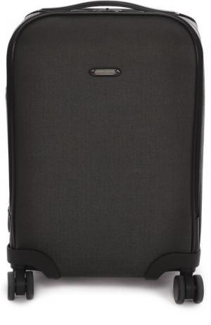 Дорожный чемодан на колесиках Ermenegildo Zegna. Цвет: темно-серый