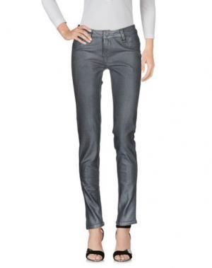 Джинсовые брюки BLEULAB. Цвет: серый