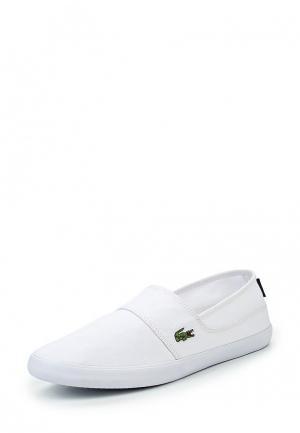 Слипоны Lacoste. Цвет: белый