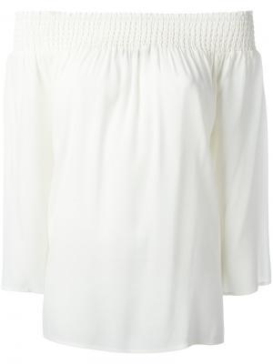 Блузка с открытыми плечами Steffen Schraut. Цвет: телесный