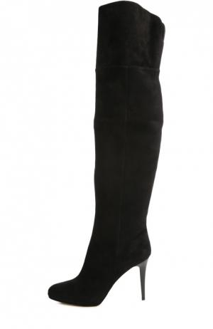 Замшевые ботфорты Gypsy на шпильке Jimmy Choo. Цвет: черный
