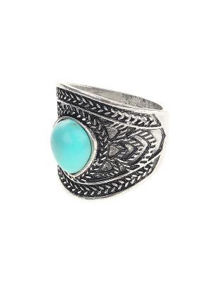 Кольцо Migura. Цвет: серебристый, голубой