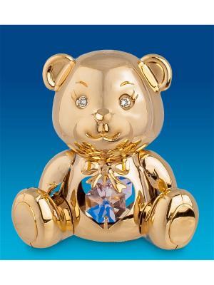 Фигурка Плюшевый Мишка с цв.кр. Юнион. Цвет: золотистый