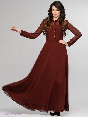 Платье Enna Levoni. Цвет: темно-бордовый