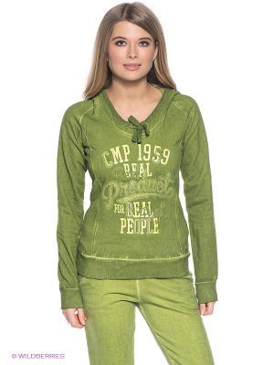 Худи CMP. Цвет: зеленый