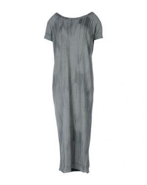 Платье длиной 3/4 BRAND UNIQUE. Цвет: свинцово-серый