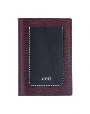 Чехол для документов AMI ALEXANDRE MATTIUSSI. Цвет: красно-коричневый
