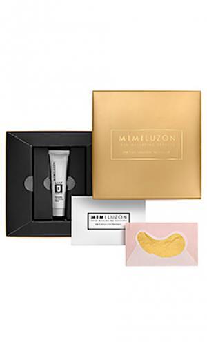 Маска на глаза 24k pure gold Mimi Luzon. Цвет: металлический золотой