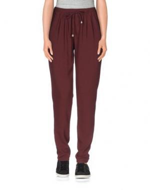 Повседневные брюки CHILI PEPPERS. Цвет: баклажанный