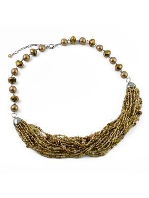 Ожерелье FOXTROT. Цвет: золотистый