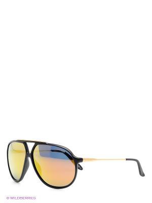 Солнцезащитные очки CARRERA. Цвет: черный, золотистый