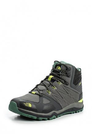 Ботинки трекинговые North Face. Цвет: зеленый