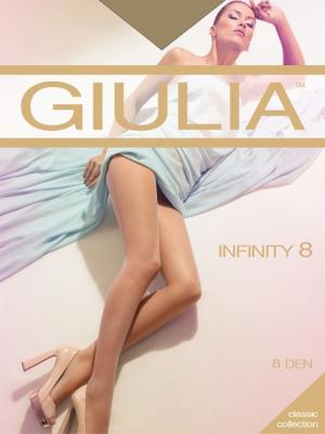 Колготки INFINITY 8, 2 пары (8 ден) Giulia. Цвет: рыжий