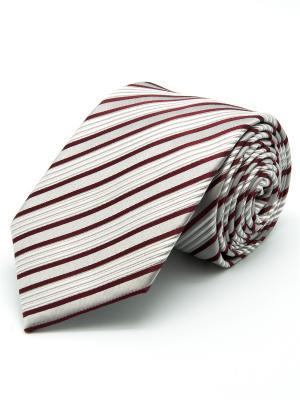 Галстук Angelo Bonetti. Цвет: белый, серый, бордовый