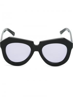 Солнцезащитные очки с структурированной оправой Karen Walker Eyewear. Цвет: чёрный