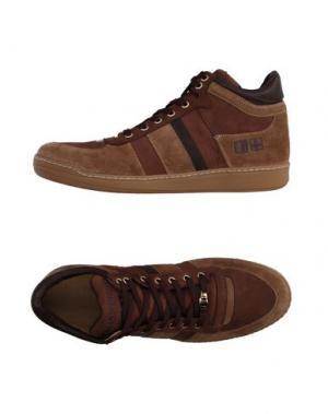 Высокие кеды и кроссовки D'ACQUASPARTA. Цвет: коричневый