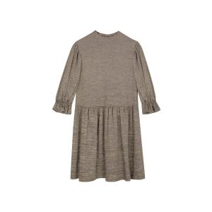 Платье блестящее RUBY SESSUN. Цвет: хаки
