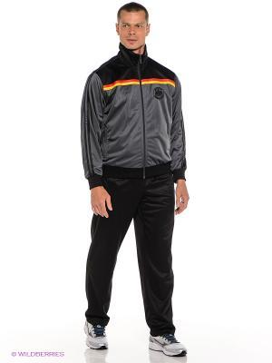 Спортивный костюм ADDIC. Цвет: черный, темно-серый