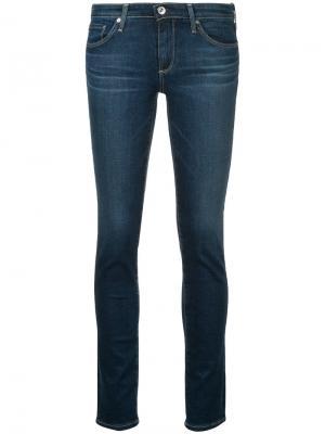 Джинсы скинни с заниженной талией Ag Jeans. Цвет: синий