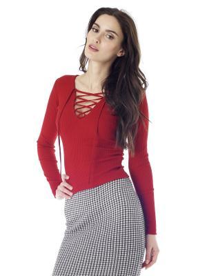 Пуловер на шнуровке Celine FreeSpirit. Цвет: красный