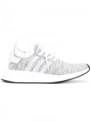 Кроссовки NMD_R2 Primeknit Adidas. Цвет: серый
