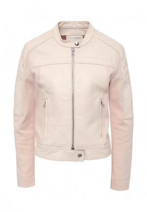 Куртка кожаная Pinko. Цвет: розовый