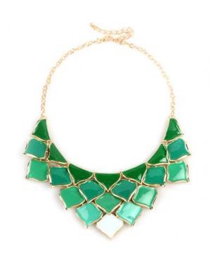 Ожерелье GEORGE J. LOVE. Цвет: зеленый