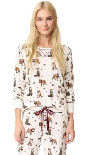 Пижамный топ Fox Hunt PJ Salvage. Цвет: коричневый