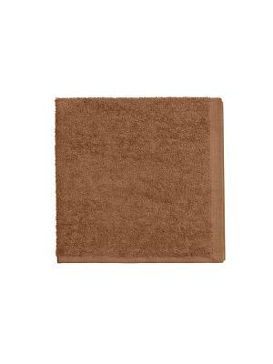 Набор из 4х махровых полотенец коричневый - 40*40, УзТ-НПБ-100-20 Aisha. Цвет: коричневый