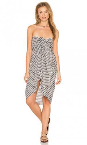 Парео kaua Acacia Swimwear. Цвет: black & white