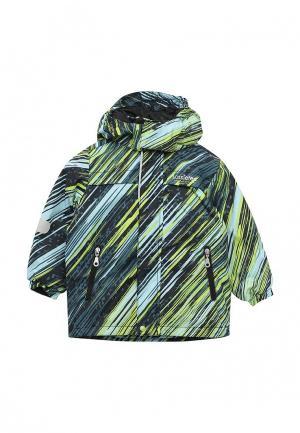 Куртка утепленная Lassie. Цвет: разноцветный