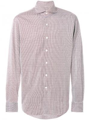 Полосатая рубашка Alessandro Gherardi. Цвет: красный