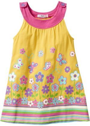 Платье (желтый тюльпан с рисунком) bonprix. Цвет: желтый тюльпан с рисунком