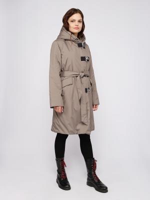 Пальто Frauland. Цвет: оливковый