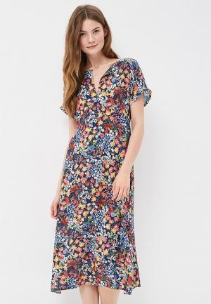 Платье Mango. Цвет: разноцветный