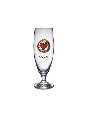 Friendship beer you and me 50cl бокал для пива Kosta Boda. Цвет: прозрачный