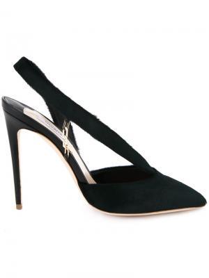 Туфли с ремешком на пятке Olgana. Цвет: зелёный