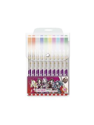 Ручки гелевые глитерные Ever After High 10 цветов PVC упаковка Mattel. Цвет: прозрачный