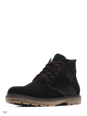 Ботинки зимние мужские. натуральнвя кожа ZET. Цвет: черный