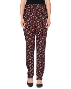 Повседневные брюки BIANCOGHIACCIO. Цвет: кирпично-красный