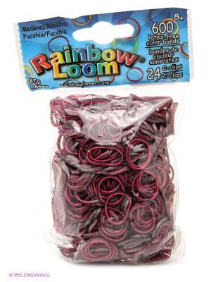 Резиночки Фуксия. Средневековье RAINBOWLOOM. Цвет: розовый, темно-серый
