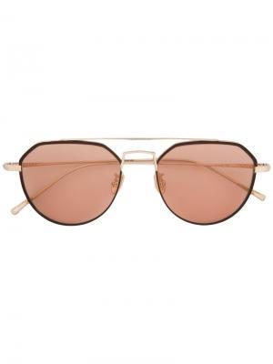 Солнцезащитные очки Charleston Maska. Цвет: коричневый