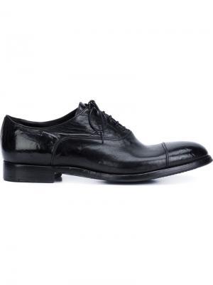 Туфли Дерби на шнуровке Alberto Fasciani. Цвет: чёрный