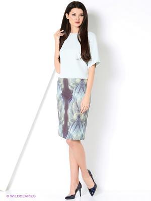 Блуза IMAGO. Цвет: серо-голубой